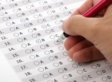 Customer service satisfaction survey or exam multiple choice